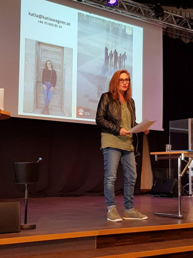 Föredrag under kunskapsdagar i Härnösand. Foto Jessica Eriksson